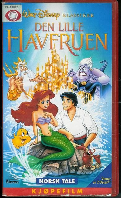 DEN LILLE HAVFRUEN. 1989, 5 år, 79 min, fra Walt Disney,