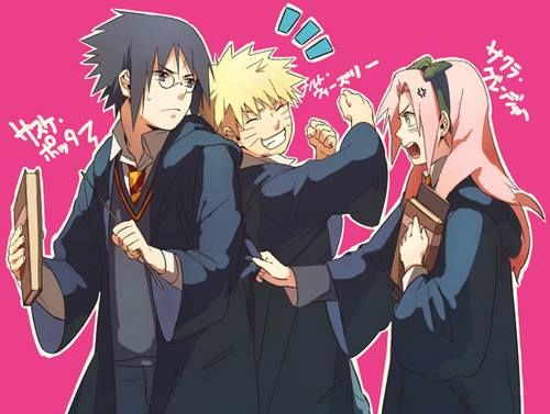 Naruto x Harry Potter: they are Team 7, a lucky number in the wizarding community