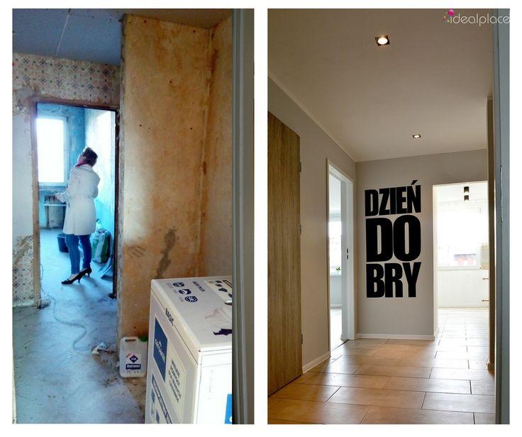 Projekt i remont mieszkania w bloku. Przeznaczenie na flipa. Przed - po. Before - after.