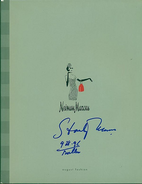Neiman Marcus Catalog Autographed by Stanley Marcus