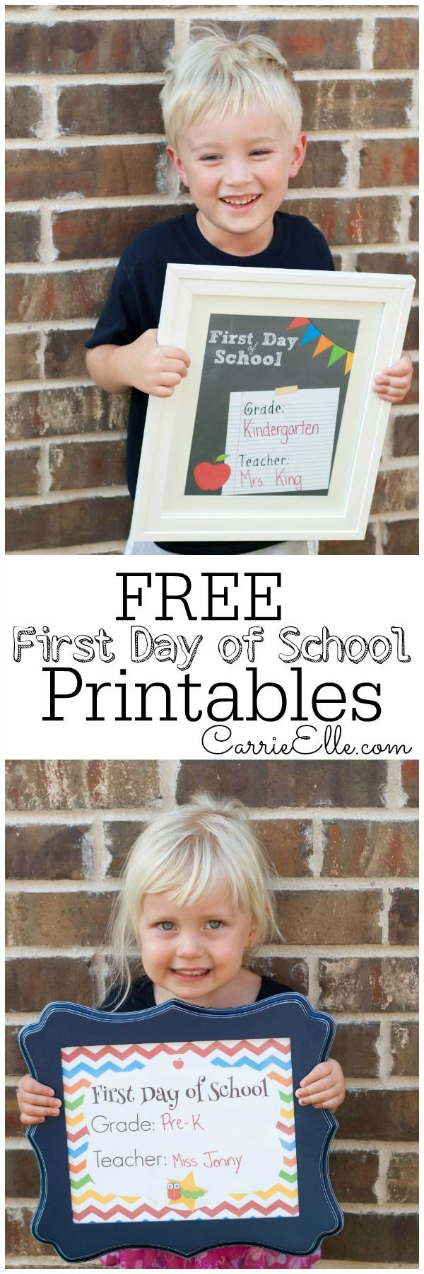 These fun First Day of School Printables are so cute (and they're free, too!).