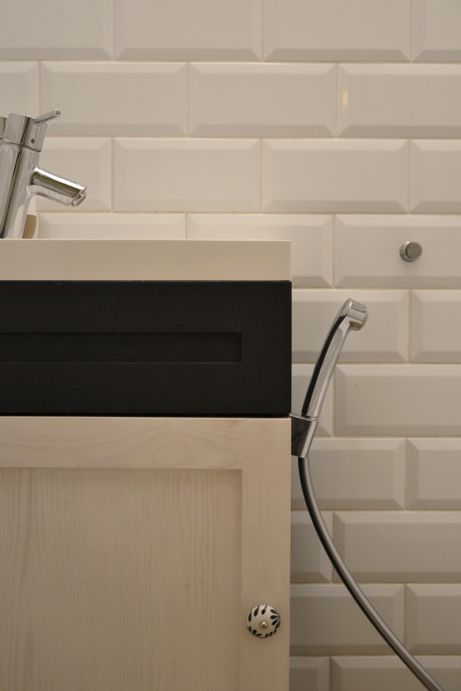 tiles-Vives Mugat Blanco; cupboard-my design; bidette Hansgrohe Talis S.