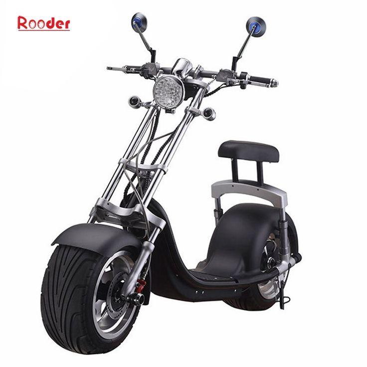 Rooder nuovo scooter elettrico citycoco r804a harley con ruota anteriore in alluminio e sospensioni ammortizzatore girando luci batteria al litio specchio porta luce freno USB retrovisore (8)