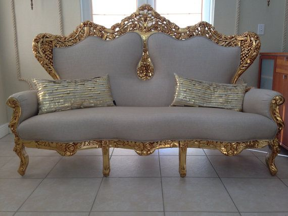 SOLD Antique French Rococo Sofa Couch by SittinPrettyByMyleen