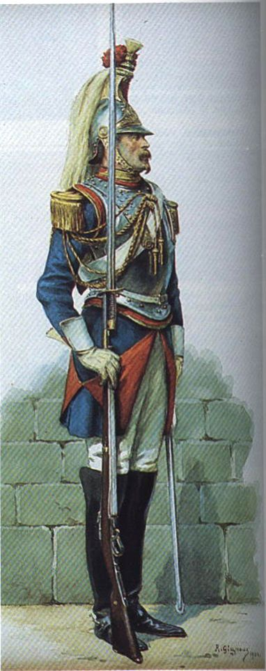 Officer Escadron des Cent-gardes, Solferino 1859
