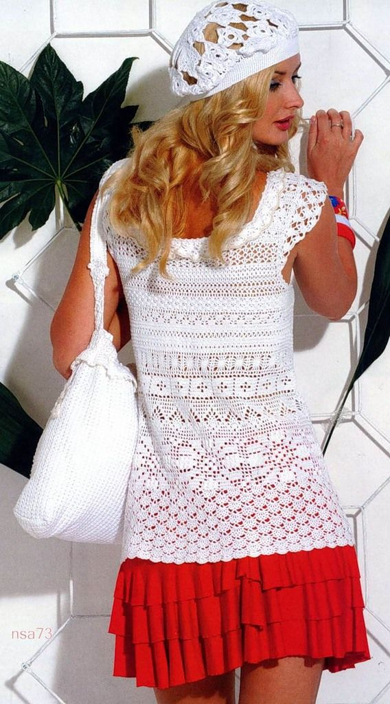 White Angel Wing Top free crochet graph pattern