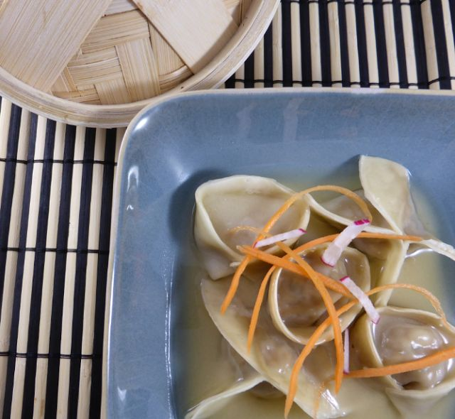 Rocket and Roses Vegan Kitchen: Moosewood Tofu Vegan Dumplings in Garlic/Miso Broth (vegan with gluten-free options)