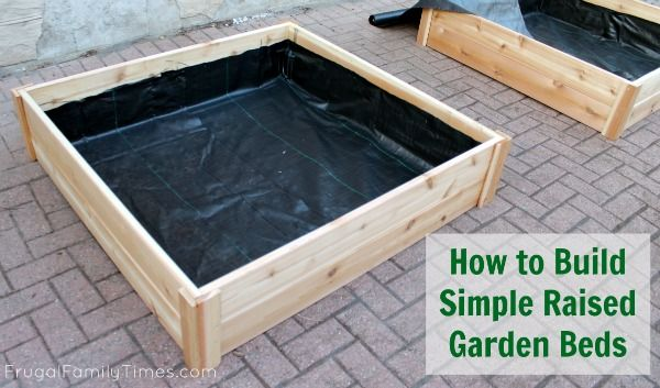 Frugal Family Times: How to Build Raised Garden Bed Boxes. This seems like the perfect tutorial for me to make a garden bed for the summer! Now that we know we're getting our new place I'm keen to start planning my future there. I'm going to grow herbs and try my hand at a few vegetables. Our front patio should be perfect for this, since it gets much more sun than the back patio.
