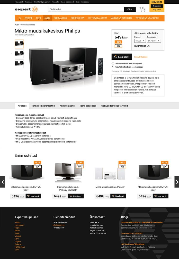 Expert. Expert Electrical. Opus Online. eCommerce Website and eStore, Web Design & Development, Mobile Responsive, Native Mobile Apps, Mobile Apps Development - Opus Web Development in Tallinn, Estonia. Electronics retail. Retail. Consumer electronics. Electronics.