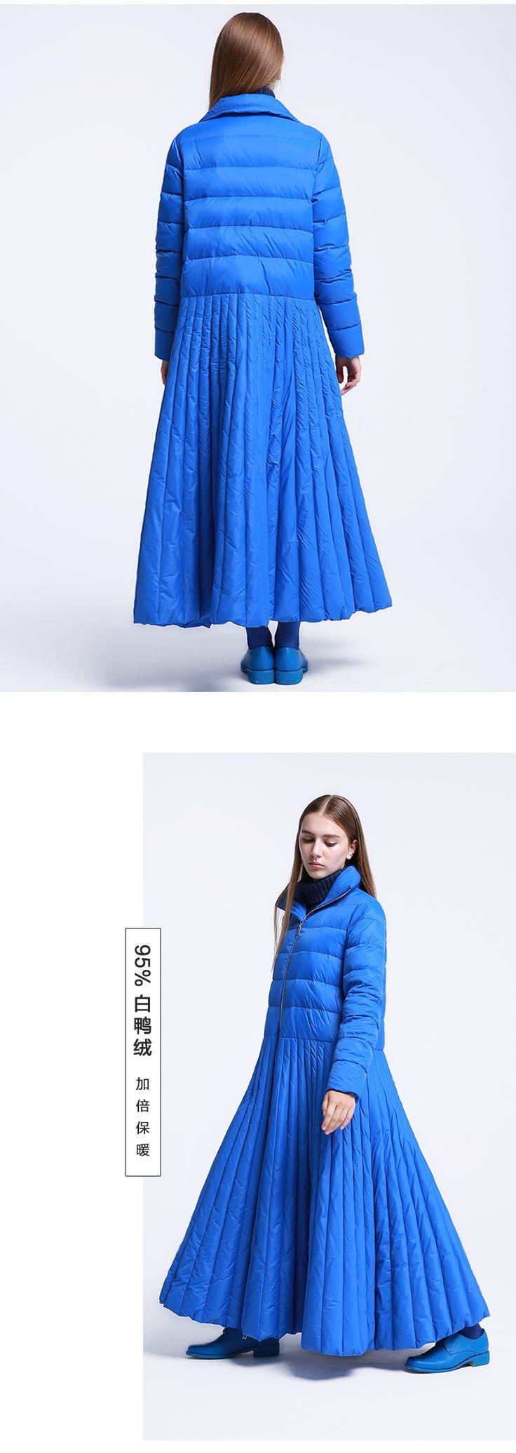 ЛИНЕТТ CHINOISERIE оригинальный дизайн 2016 новое прибытие длинные молнии дизайн стенда воротник верхней одежды пуховик женский белая утка купить на AliExpress
