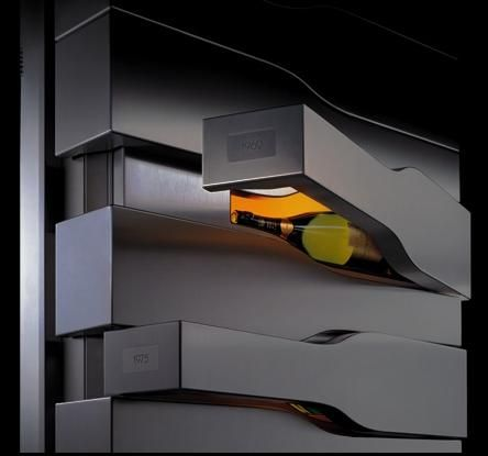 Vertical Limit wine cellar by Porsche Design for Veuve Clicquot champagne house