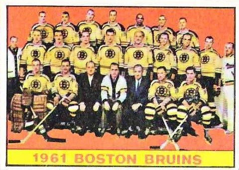1961-62 Topps - The Birth of the Hockey Team Card