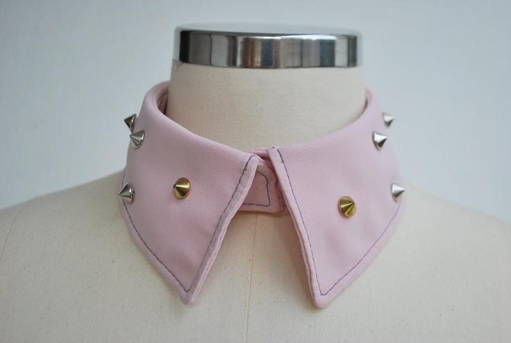 pinky collar #collar #spike #spikey #collar #pitikare #ekoseli #yaka #kurukafa