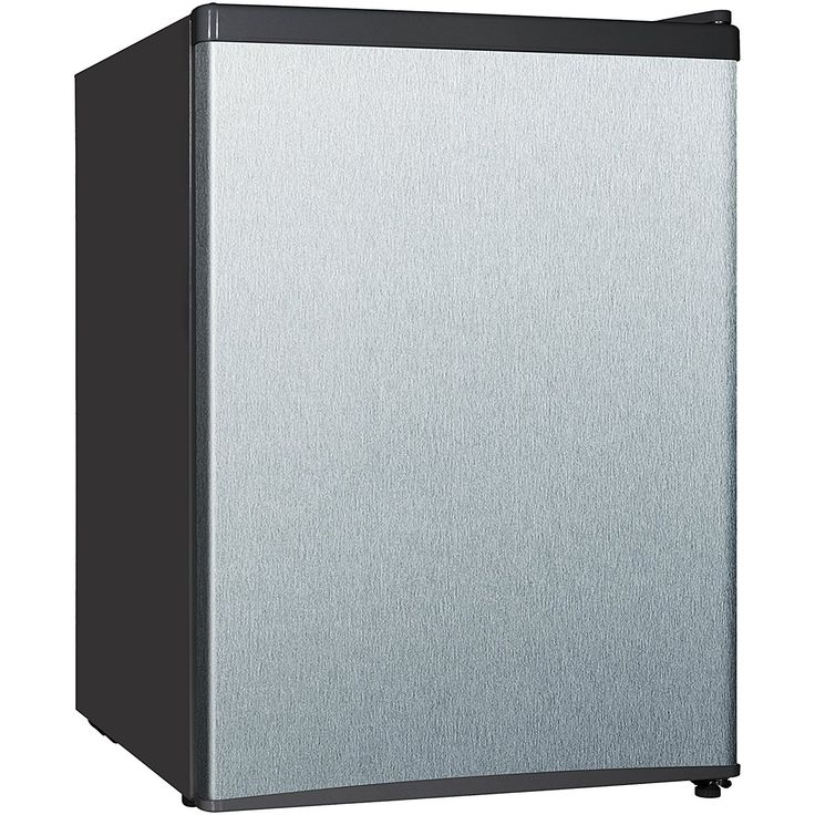 Midea WHS 87LSS1 Compact Single Reversible Door Refrigerator, 2.4 Cubic  Feet, Stainless Steel. KühlschrankKompaktGeräteEdelstahl