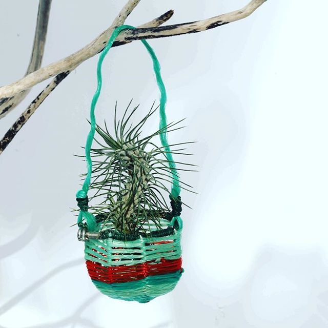 ghost net baskets - recycled art
