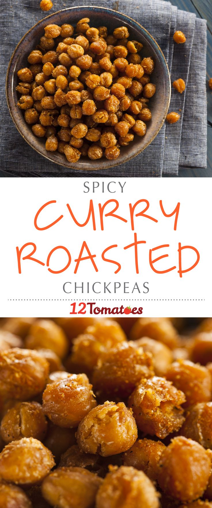Curry Roasted Chickpeas:  Chickpeas have great nutritional value and are packed with protein and fiber, so this isn't just a snack that will leave you feeling ravenous an hour later; they'll actually tide you over until your next meal.