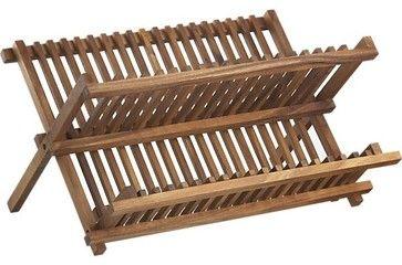 Acacia Dish Rack - contemporary - Dish Racks - Crate&Barrel