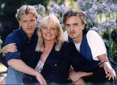 Isabelle Foret et ses deux fils