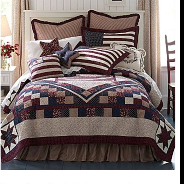 20 best images about americana bedroom on pinterest for Americana bedroom ideas