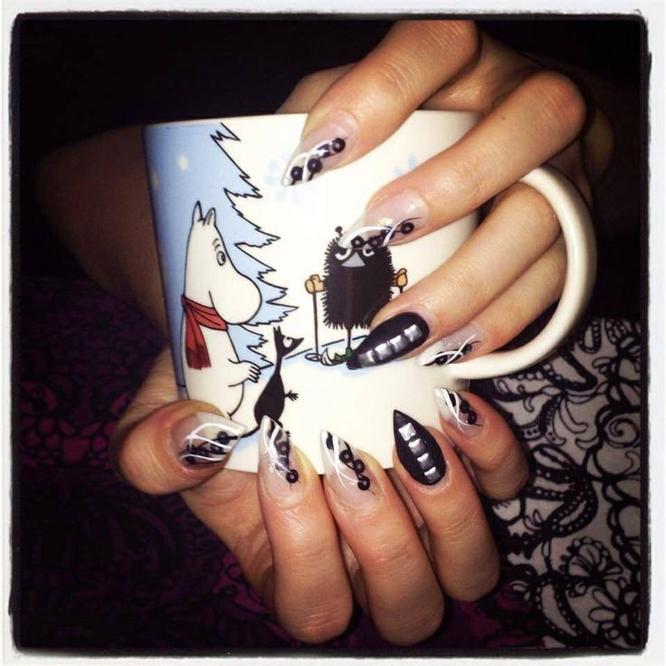 Winter nails by Studio Rose. Ihanat talvikynnet.