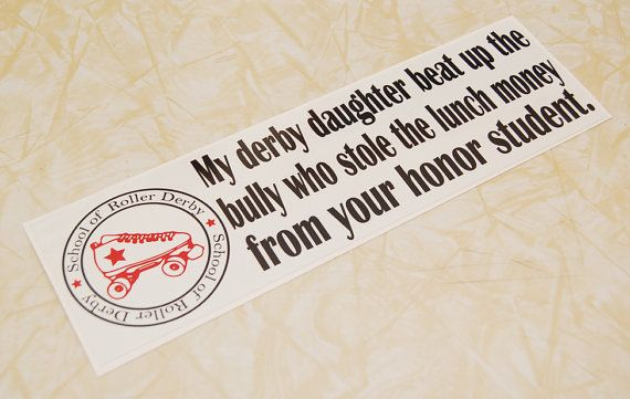 Roller Derby Sticker-Derby Daughter/Honor Student on Etsy, $5.00