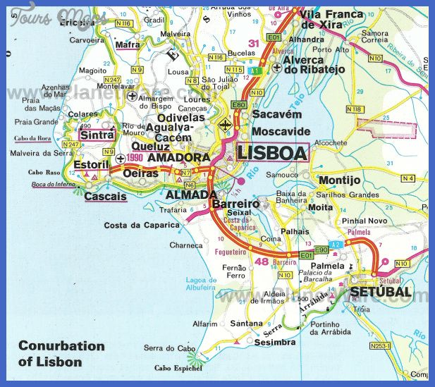 Best Lisbon Images On Pinterest Lisbon Sintra Portugal And - Portugal map lonely planet