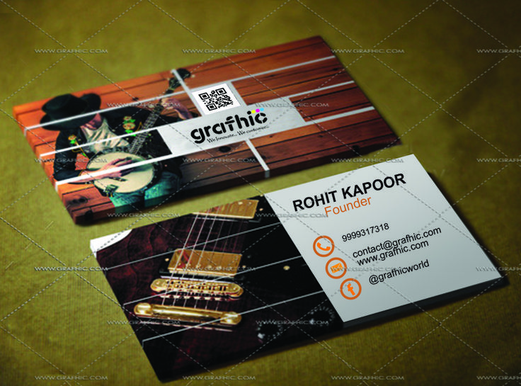 """Music-Love!! """" Creative Business Card """" . A good business card definitely won't ensure your success, but it sure can help! It can make all the difference in the first impression that you have on someone, or whether or not you leave an impression at all. With the emphasis placed on networking these days, it's more important than ever to stand out of the crowd GRAFHIC will provide you with a few good ideas for how to do it. . Buy Innovative Creative Business Cards www.grafhic.com"""