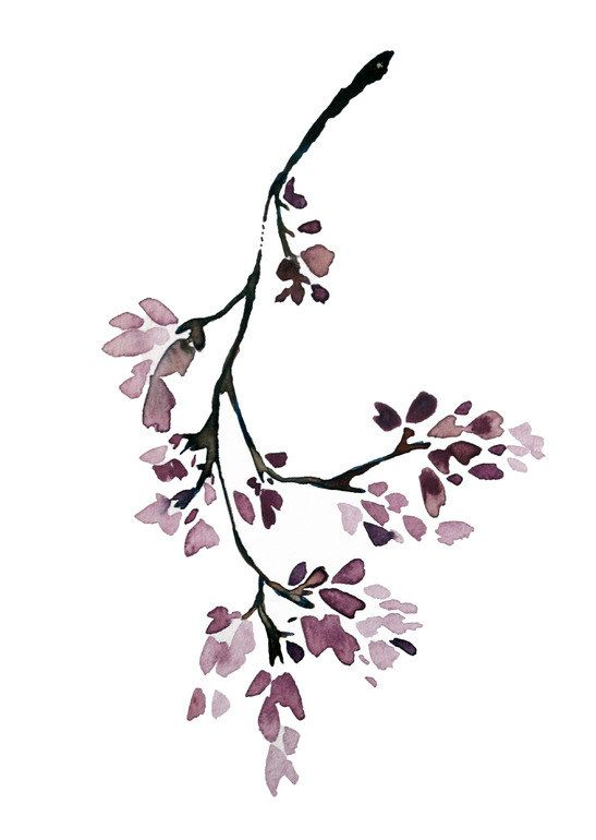 Jacaranda - modern, minimalist, botanical, tree, asian, floral, island, spring, summer, art print, purple, lilac, lavender, brown, boho, art: