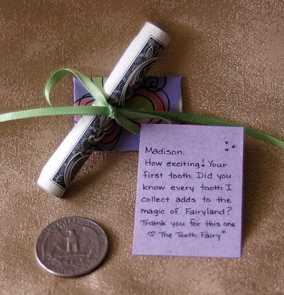 Handwritten Personalized Tooth Fairy Letters  by KeepMagicAlive, $29.95