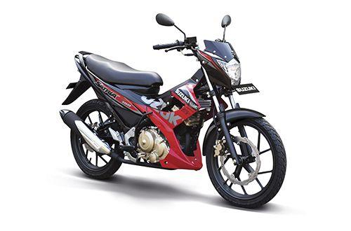 gambar foto modifikasi New Satria F150 R merah