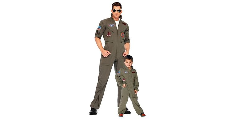 Every Maverick needs a Goose! These Top Gun threads ($40 for child, $70 for adult) are perfect for a father-son costume.