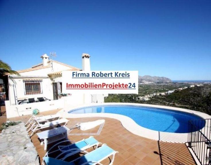 mit fabelhaftem blick auf die berge und das mittelmeer in der ortschaft orba alicante costa blanca das haus besteht aus einem gerumigen wohnzimmer - Sky Wohnzimmer Umbau