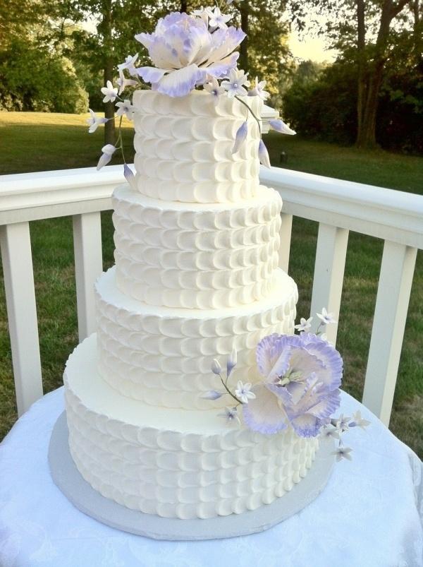 Lavender petal wedding cake