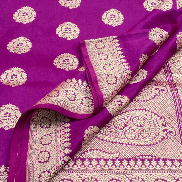 Shivangi Kasliwal Handwoven Banarasi Katan Silk Sari Pinned by Sujayita