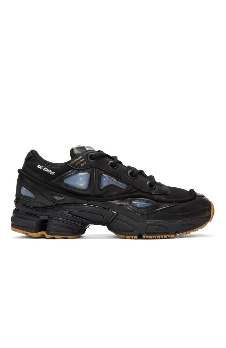 Raf Simons Black adidas Originals Edition Ozweego Bunny Sneakers from SSENSE (men, style, fashion, clothing, shopping, recommendations, stylish, menswear, male, streetstyle, inspo, outfit, fall, winter, spring, summer, personal)