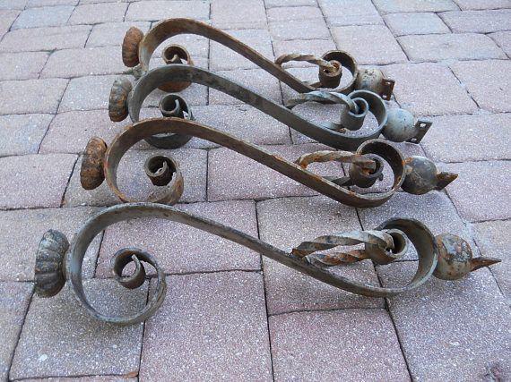 wrought iron table legs vintage from tarpon springs florida