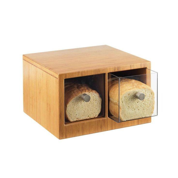 """Cal Mil 1337-60 Bamboo Two-Drawer Bread Bin - 14"""" x 13 1/2"""" x 5 3/4"""""""