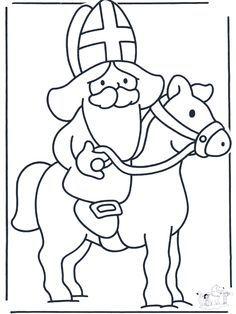 het paard sinterklaas kleurplaat zoeken