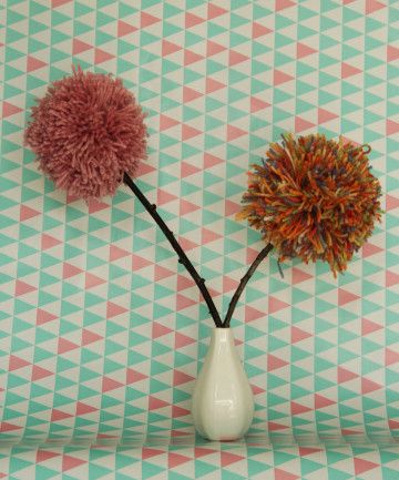 Pompom bloemen
