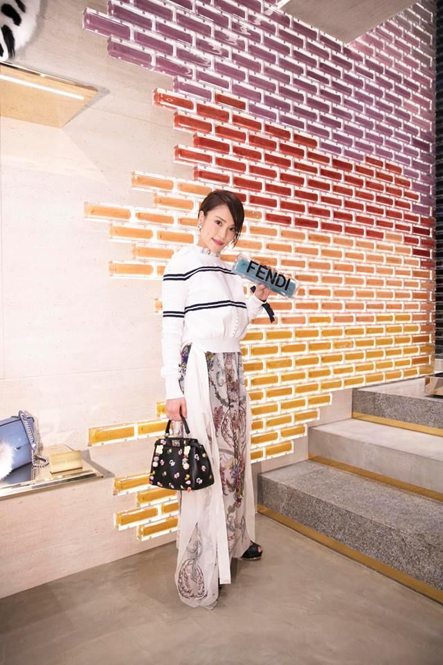 Asami Kiyokawa at the #FendiOmotesando event in Tokyo #FendiSS17