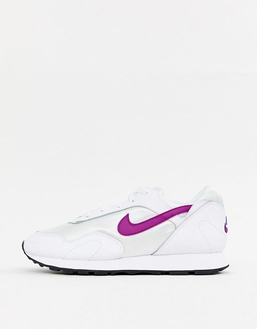 Nike White And Purple Outburst Trainers in 2019   CLOTHES I LIKE ... cb2673076b49