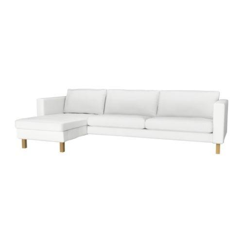 KARLSTAD 3er-Sofa und Récamiere IKEA Dank der großen Auswahl an abgestimmten Bezügen lassen sich Polstermöbel ganz einfach öfter neu gestalten.