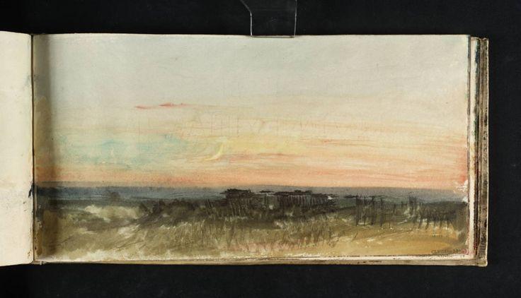 "Joseph Mallord William Turner. ""Study of Sky"", c.1816-18."