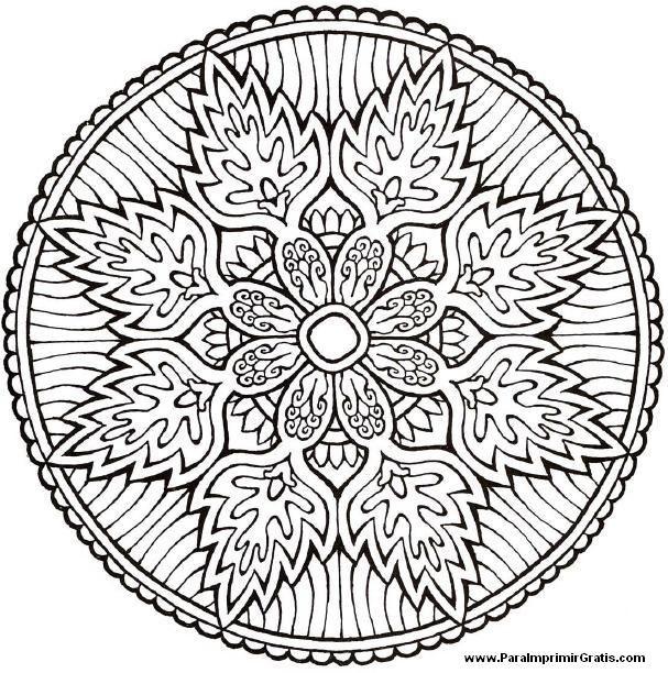 144 Best Images About Mandalas Para Colorir To