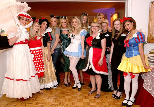Holly Madison's Disney Themed Bachelorette Party // The Knot Blog. Haha, @Elizabeth Lockhart Fox , should we do this ... but combine it with this?!: http://www.thedailybeast.com/articles/2013/08/09/fallen-princesses-the-amazing-photos-of-depressed-disney-royalty.html (j/k -- too depressing -- but I do like the idea of a theme!)