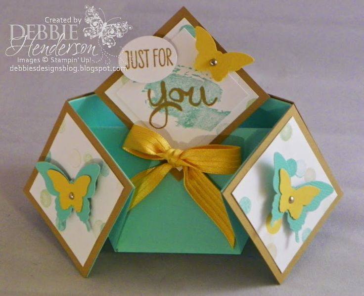 Delightful Folding Card Making Ideas Part - 10: Double Diamond Fold Card!