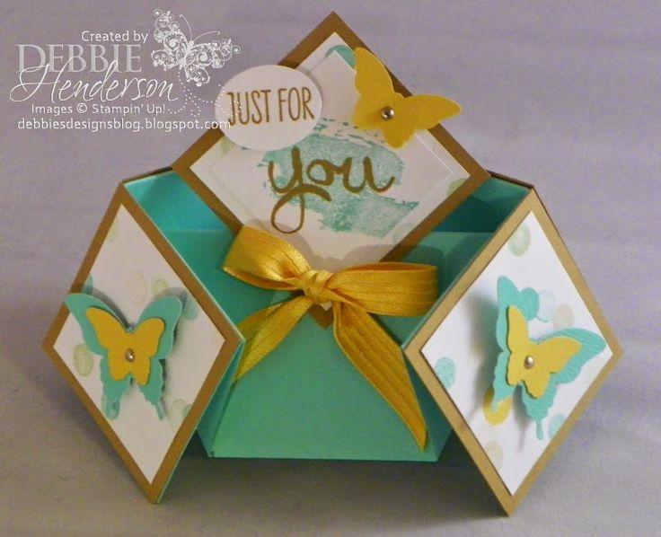 Designs de Debbie Fold Double Diamond Card! tutoriel free de la carte