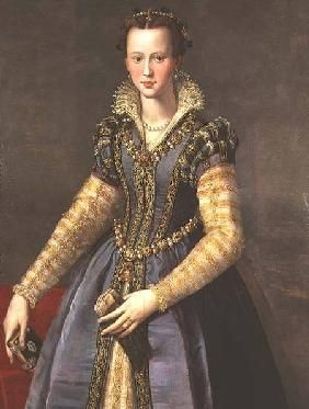 Alessandro Allori - Marie de Medici (1573-1642) wife of Henri IV of France (1553-1610)