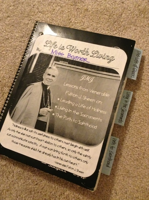 Katie Anne shows you how to share the wisdom of Archbishop Sheen with Catholic kids. Look to Him and be Radiant: Fulton Sheen Notebook