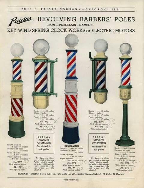 Barber shop poles